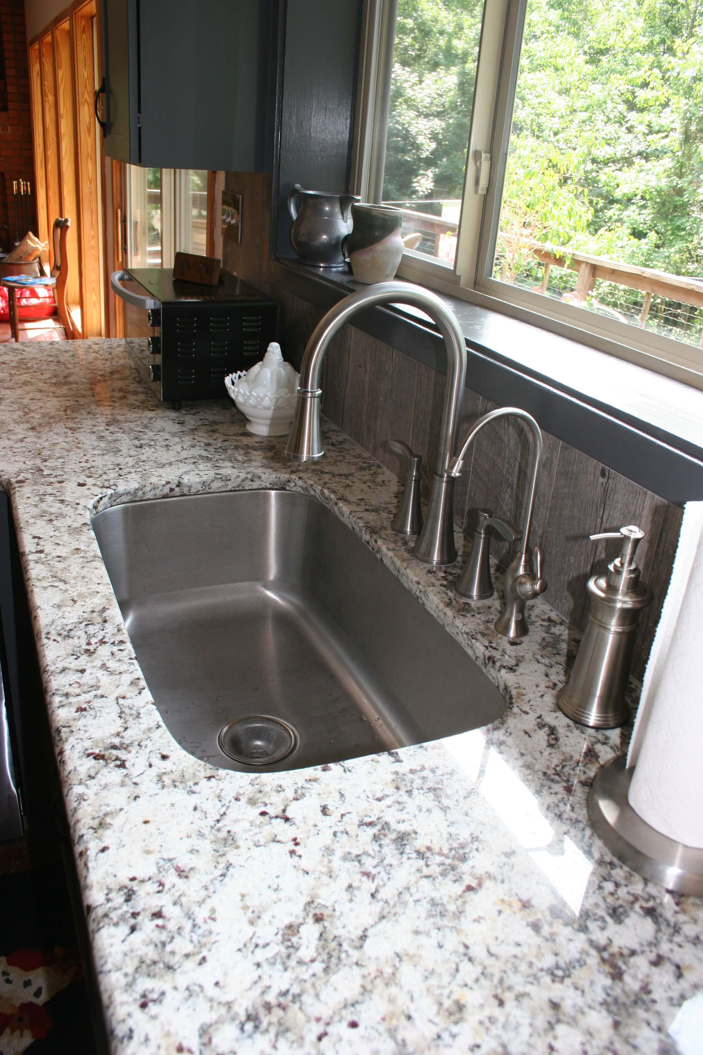 Prefab Granite Countertops Mesa Az : Danbury Style with Oyster Glaze Kitchen - Prince & Sons, Inc.