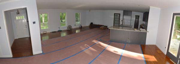 open floorplan design