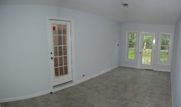 mud room with tile