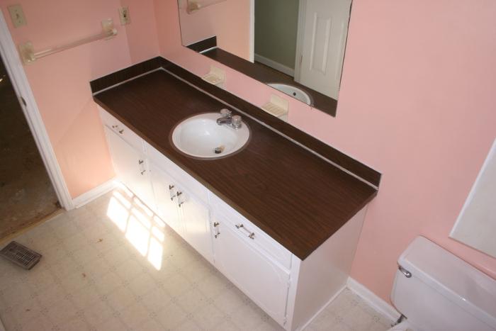 bath vanity before