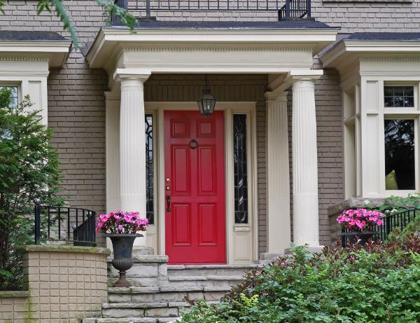 new red front door