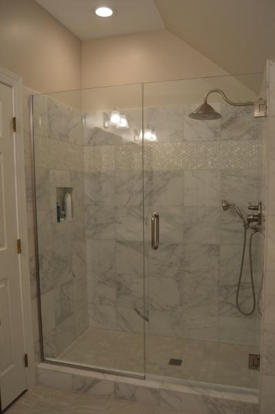 After Shot of Updated Master Bath Shower