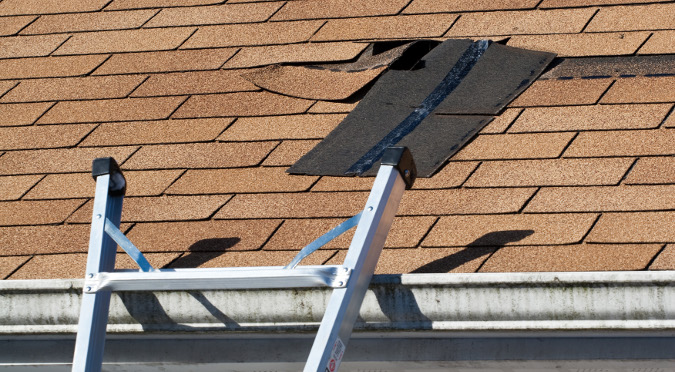 roof replacement example