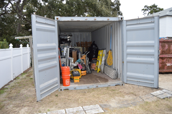 portable storage container for home remodel