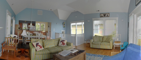 great room renovation after shot