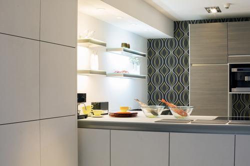 modern gray cabinets
