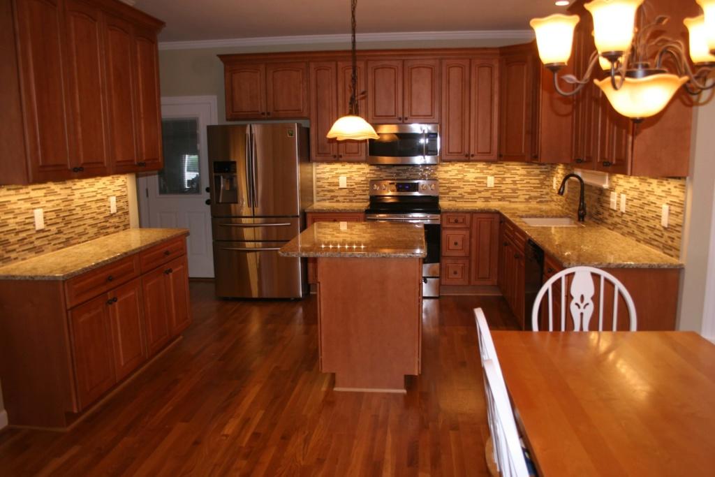 kitchen renovation with LED lighting