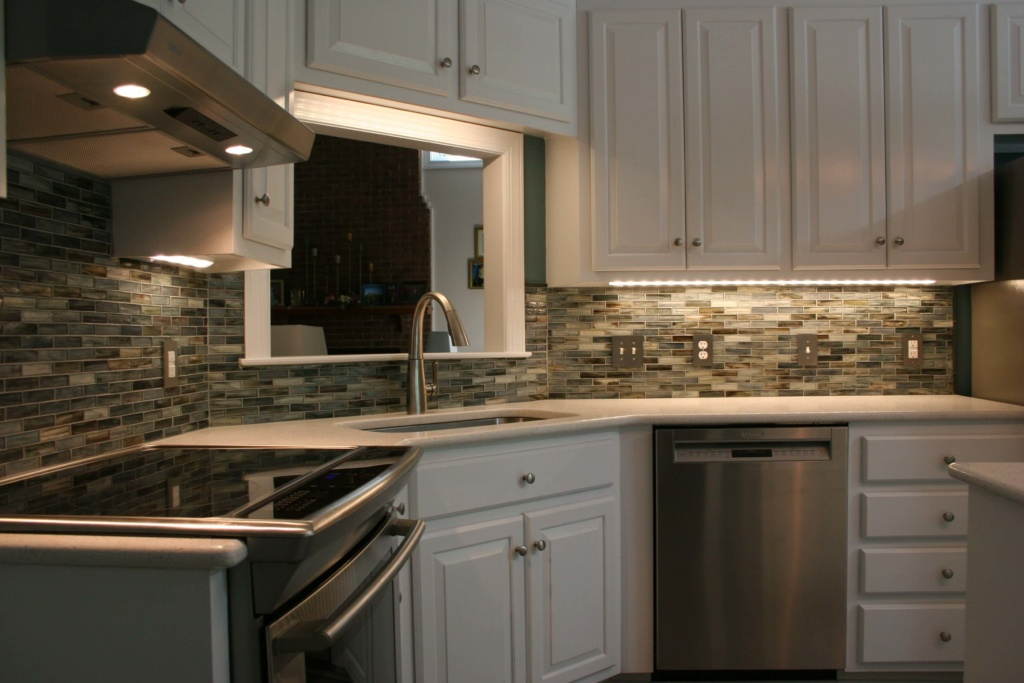 Kitchen remodel backsplash view