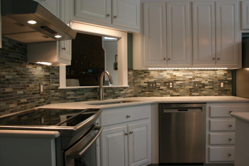 Kitchen remodel backsplash view