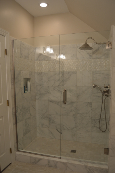 After Shot of Updated Master Bath Shower