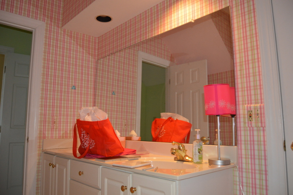 Before Shot of Master Bath Vanity
