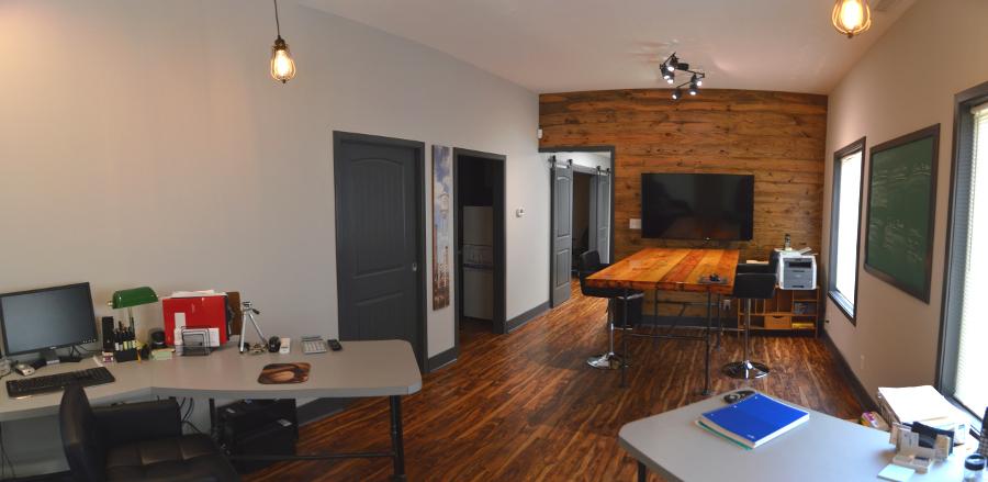 Panoramic view of studio area