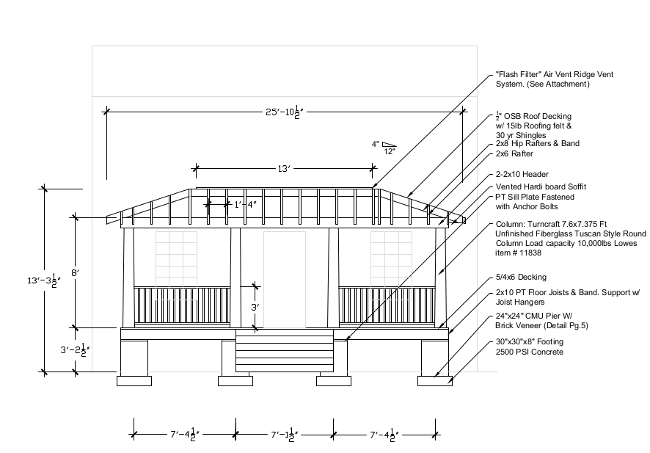 CAD Design front porch addition