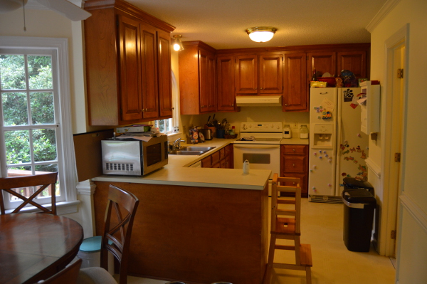 kitchen remodeling before shot in durham