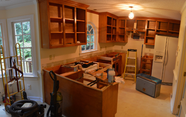 prep work kitchen cabinets