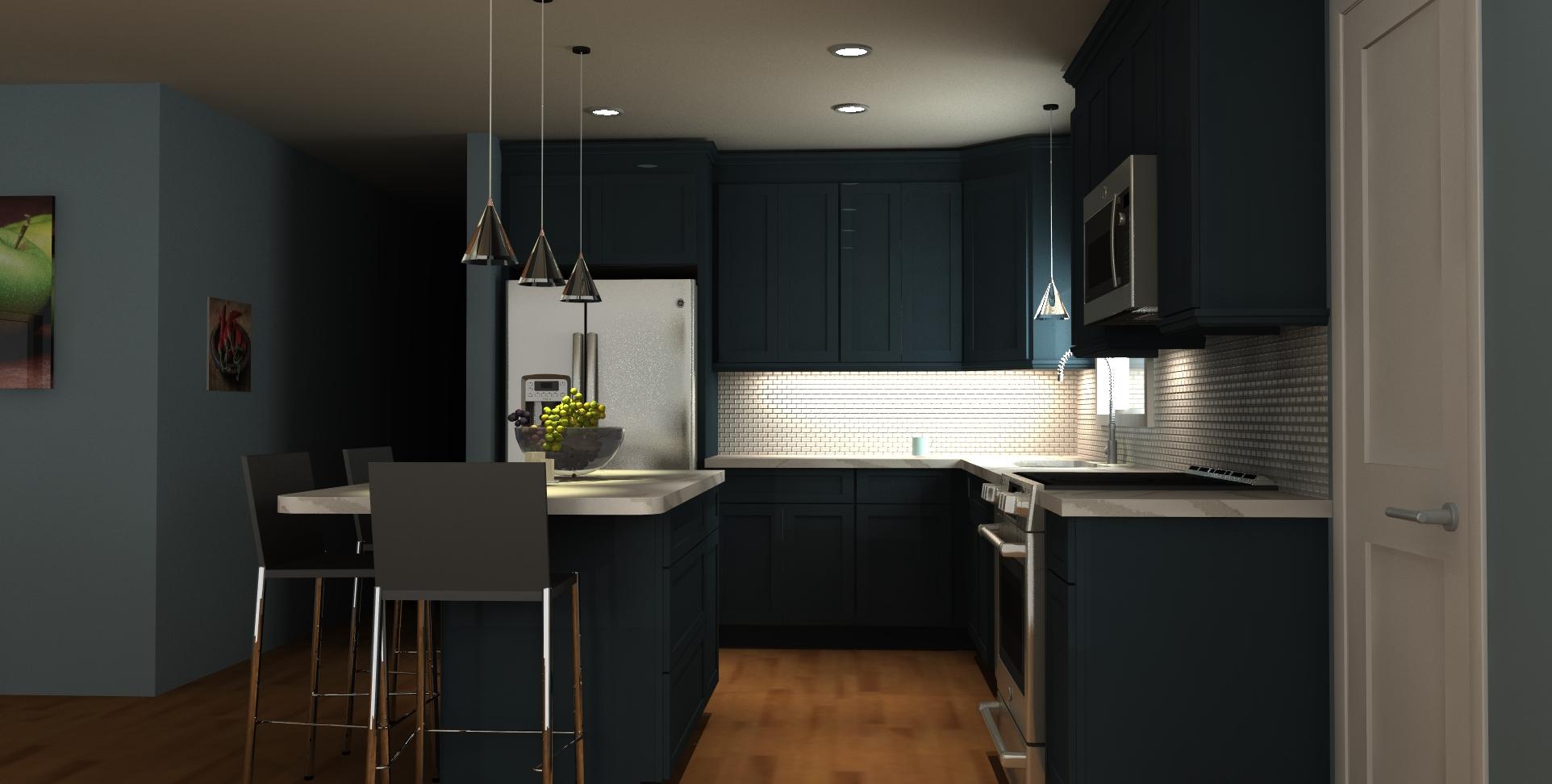 3d view of kitchen renovation