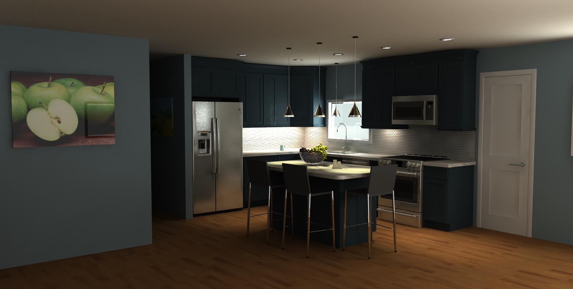3D kitchen renovation design
